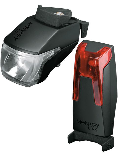 MonkeyLink MonkeyLight 70 Lux Recharge - Juego de luces para bicicleta - negro